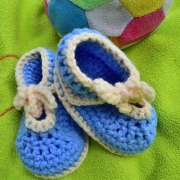 Háčkované šněrovací botičky, papuče