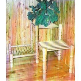 Rohový stolek na květiny se třemi stupínky