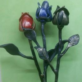 Kovaná květina růže
