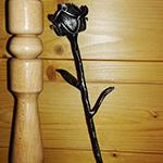 Kovaná květina - dekorativní růže